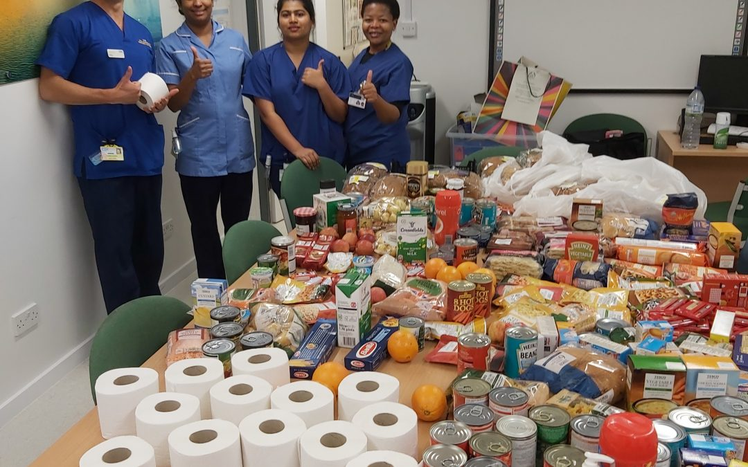 Food for NHS Emergency Department staff at Bournemouth Hospital
